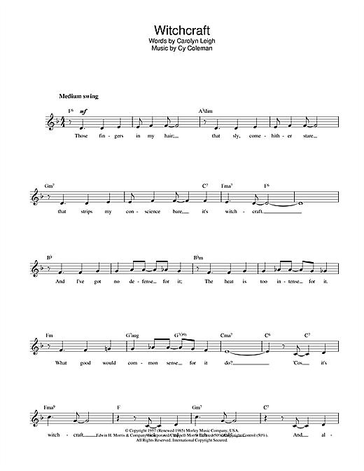 Witchcraft sheet music