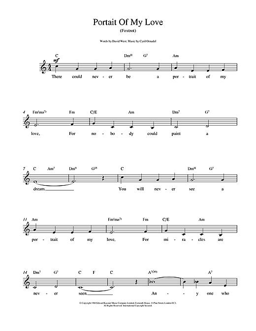 Portrait Of My Love sheet music