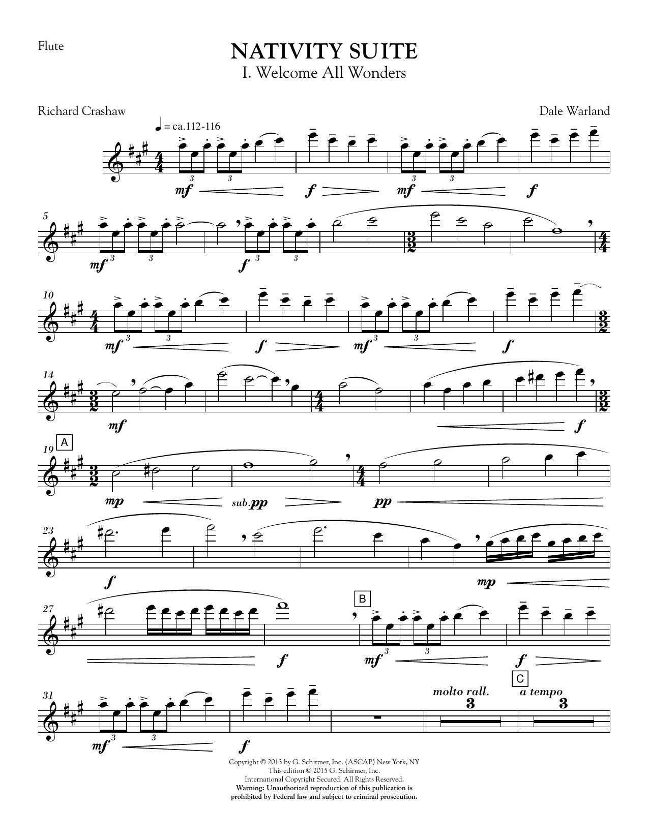 Nativity Suite - Flute sheet music