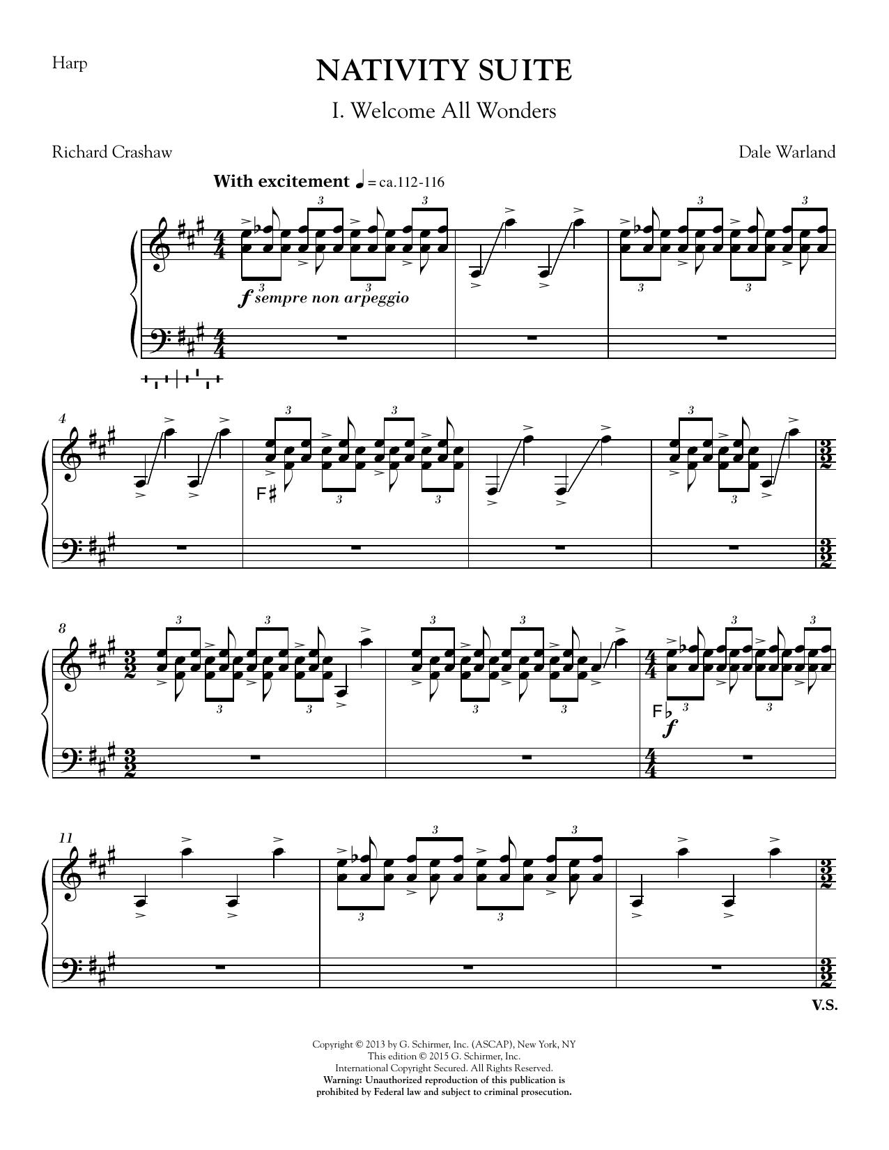 Nativity Suite - Harp sheet music