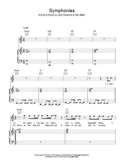 Symphonies sheet music