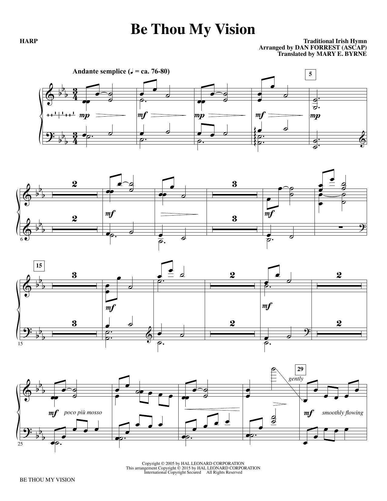 Be Thou My Vision - Harp sheet music