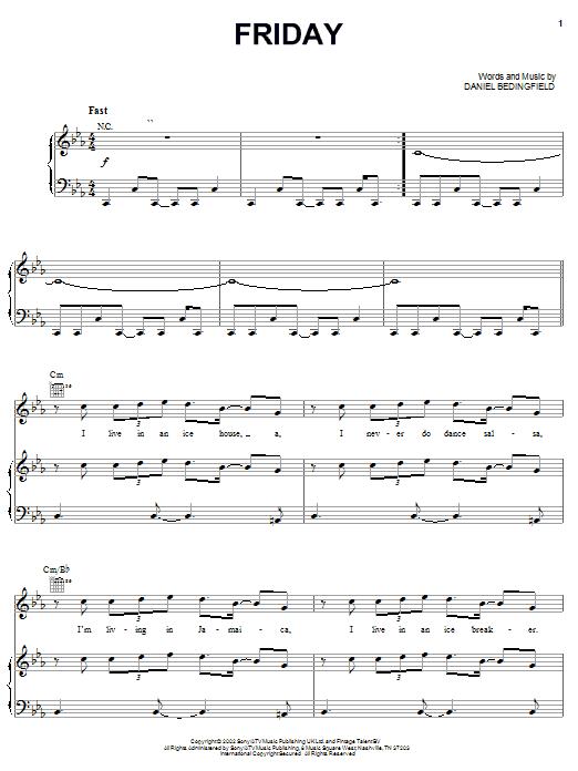 Friday sheet music