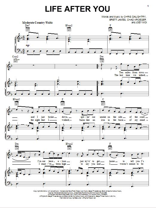 Life After You sheet music
