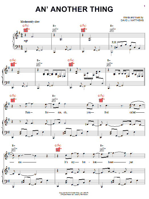 An' Another Thing sheet music