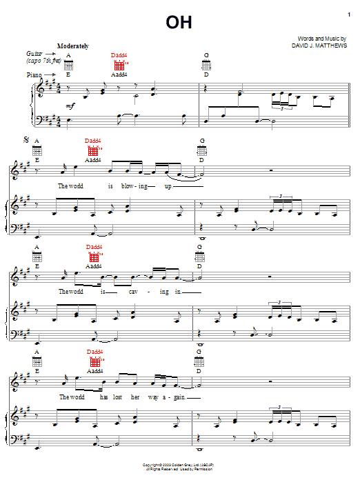 Oh sheet music