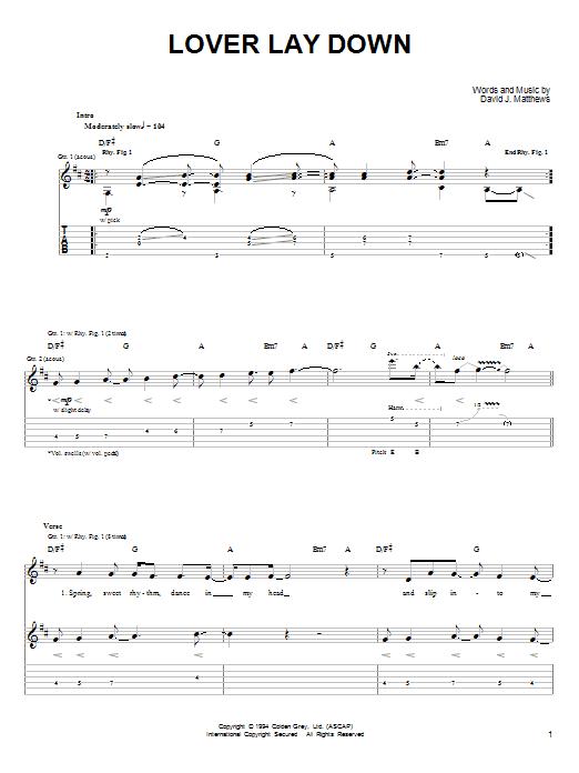 Lover Lay Down sheet music