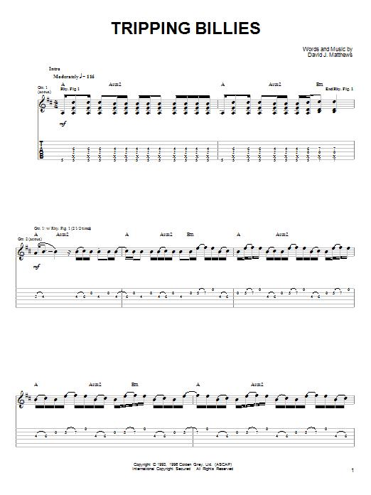 Tripping Billies sheet music