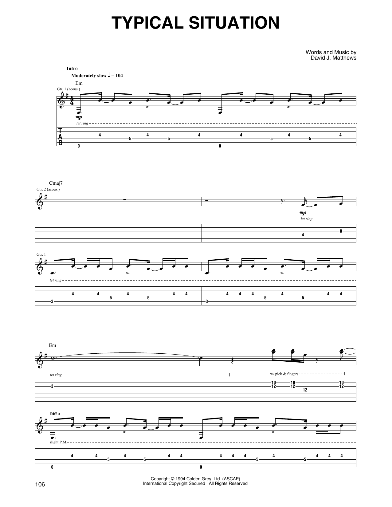 Typical Situation sheet music