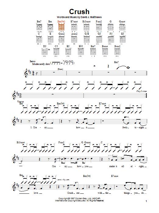 Crush sheet music