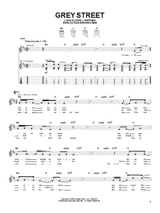 Grey Street sheet music