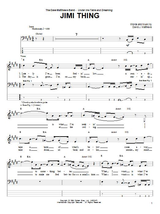 Jimi Thing sheet music