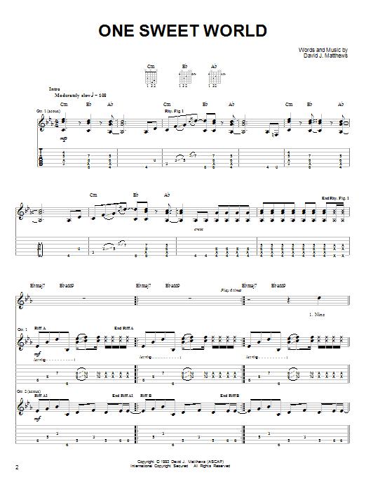 One Sweet World sheet music