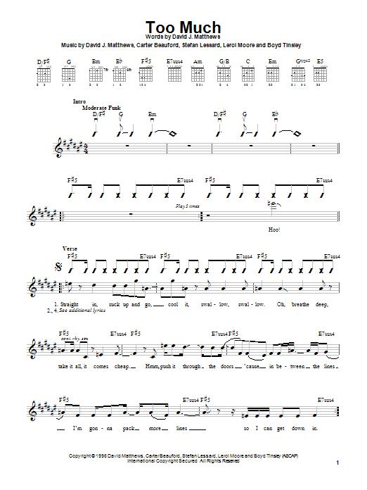 Too Much sheet music