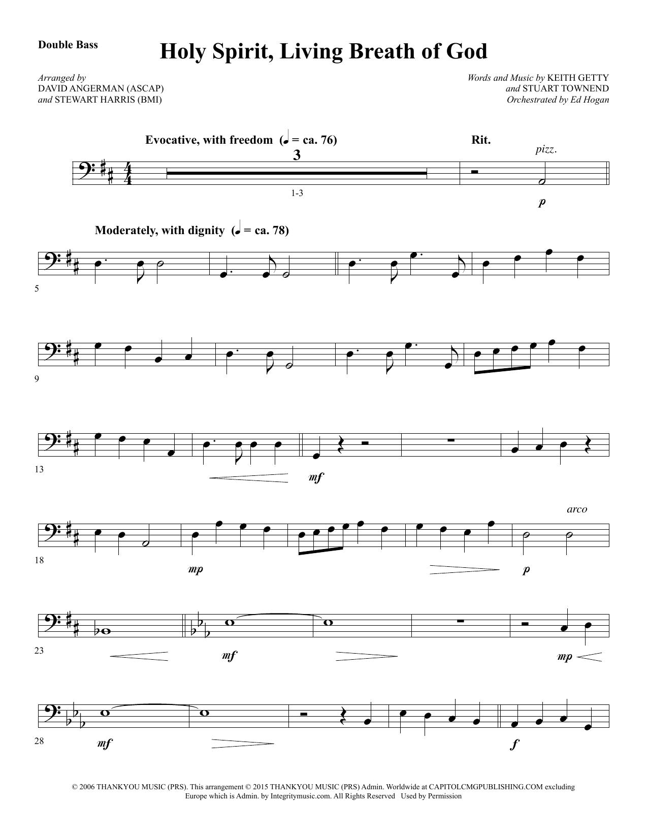 Holy Spirit, Living Breath of God - Double Bass sheet music