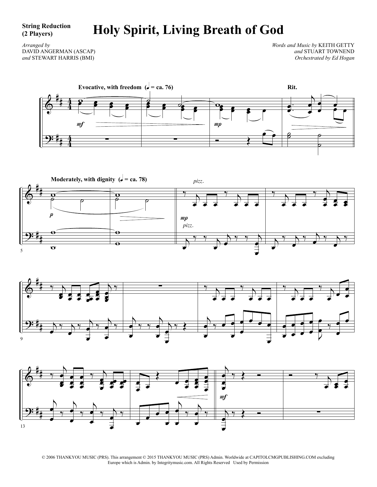 Holy Spirit, Living Breath of God - Keyboard String Reduction sheet music