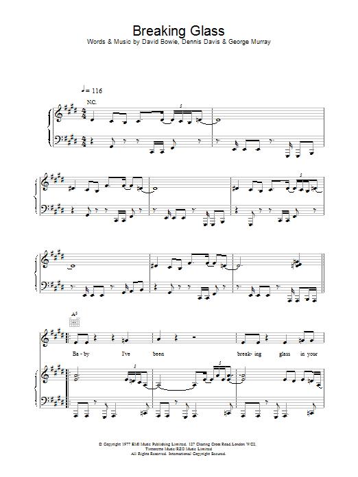 Breaking Glass sheet music
