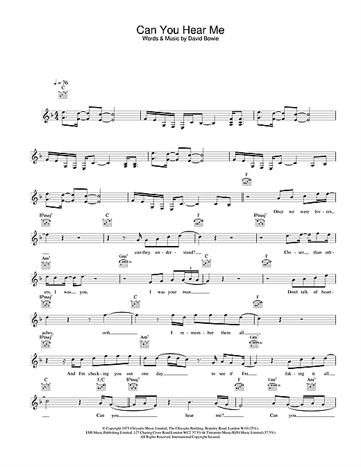 Can You Hear Me sheet music