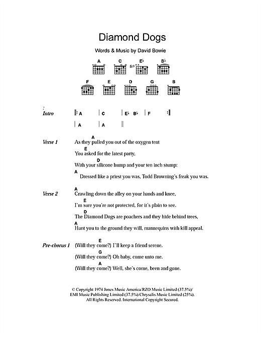 Diamond Dogs sheet music
