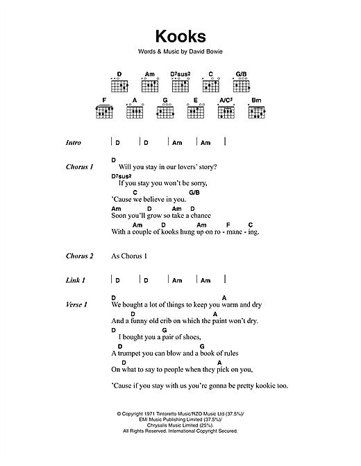 Kooks sheet music