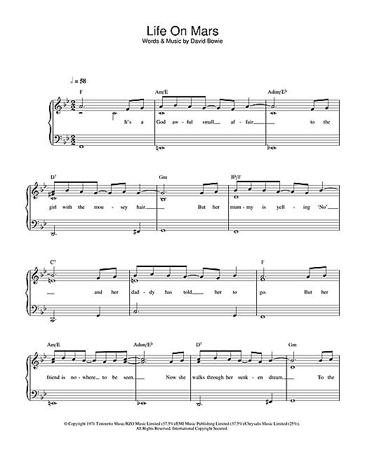 Life On Mars? sheet music