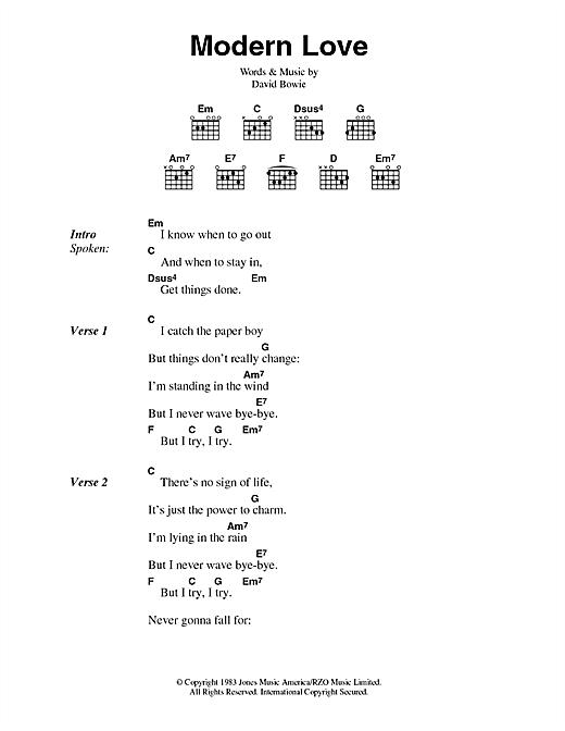 Modern Love sheet music