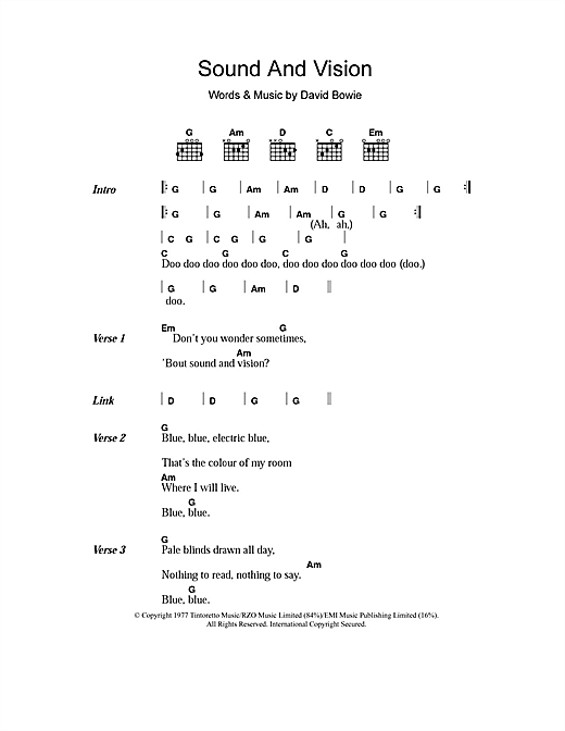 Sound And Vision sheet music