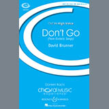 Download David Brunner Don't Go sheet music and printable PDF music notes