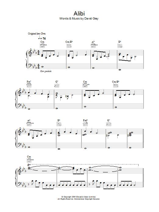 Alibi sheet music