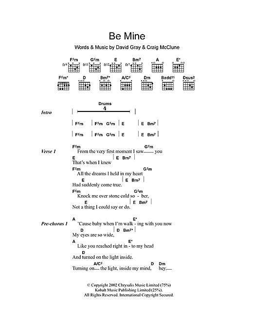 Be Mine sheet music