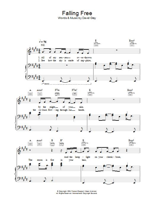 Falling Free sheet music