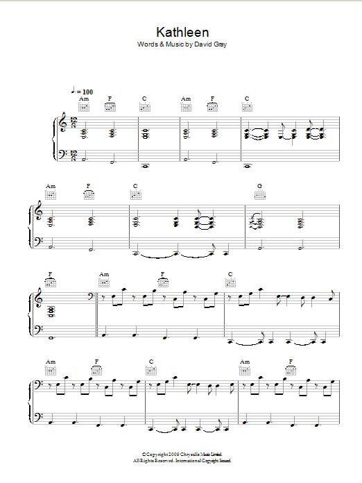 Kathleen sheet music
