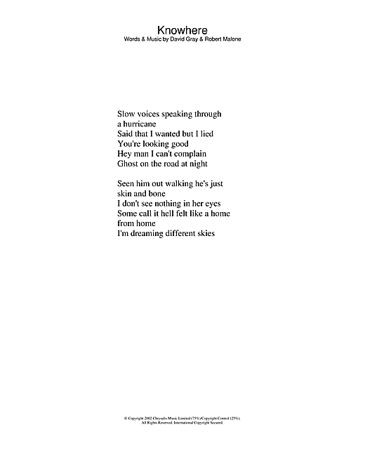 Knowhere sheet music