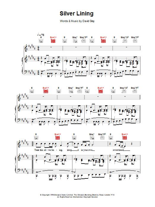 Silver Lining sheet music