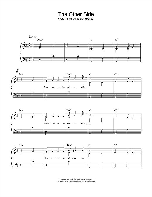 The Other Side sheet music