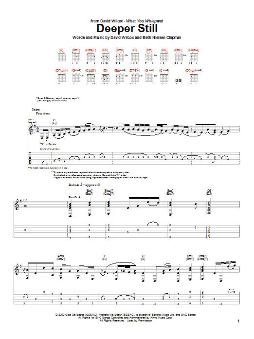 Deeper Still sheet music