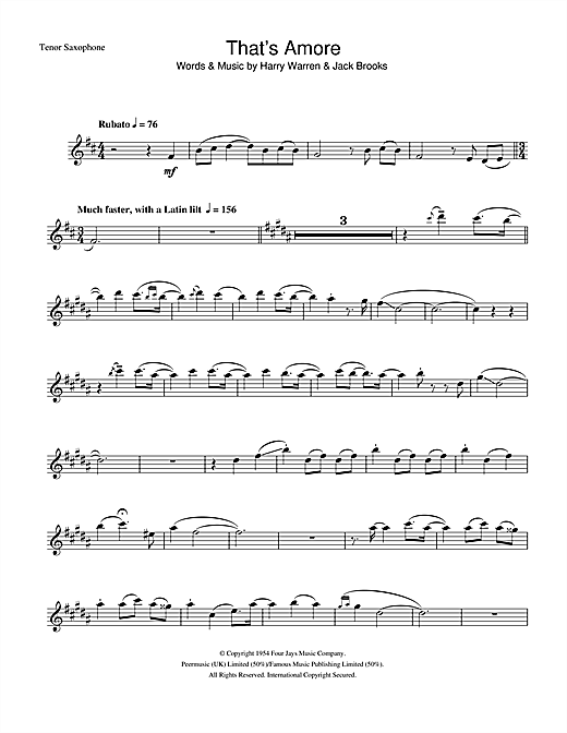 That's Amore sheet music