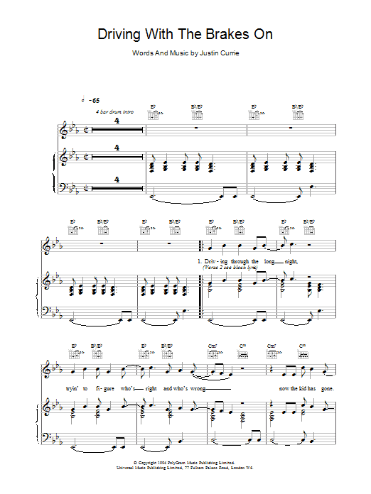 Driving With The Brakes On sheet music