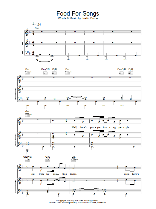 Food For Songs sheet music