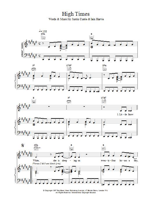 High Times sheet music
