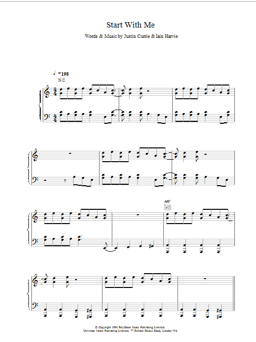 Start With Me sheet music