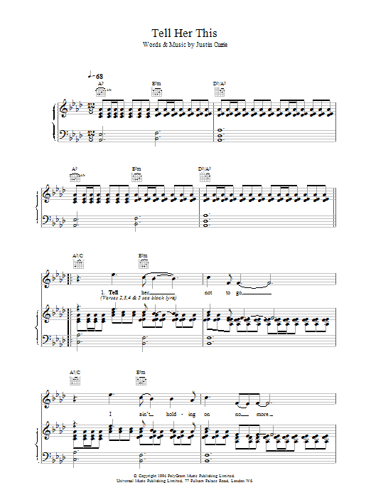 Tell Her This sheet music