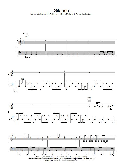 Silence sheet music