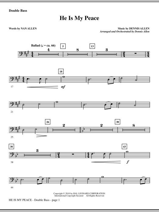 He Is My Peace - Double Bass sheet music