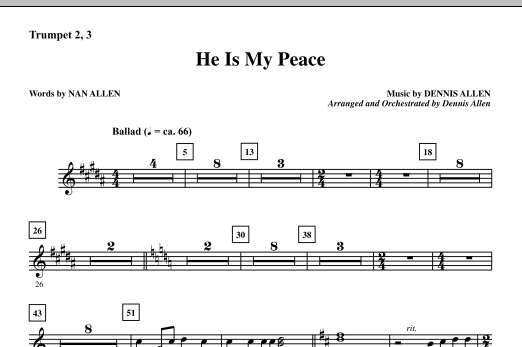 He Is My Peace - Trumpet 2 & 3 sheet music
