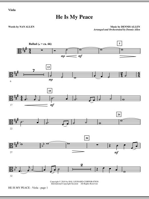 He Is My Peace - Viola sheet music