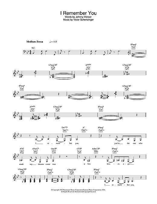 I Remember You sheet music