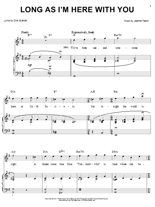 Long As I'm Here With You sheet music