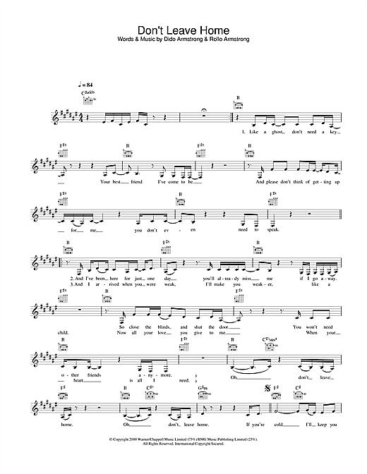 Don't Leave Home sheet music