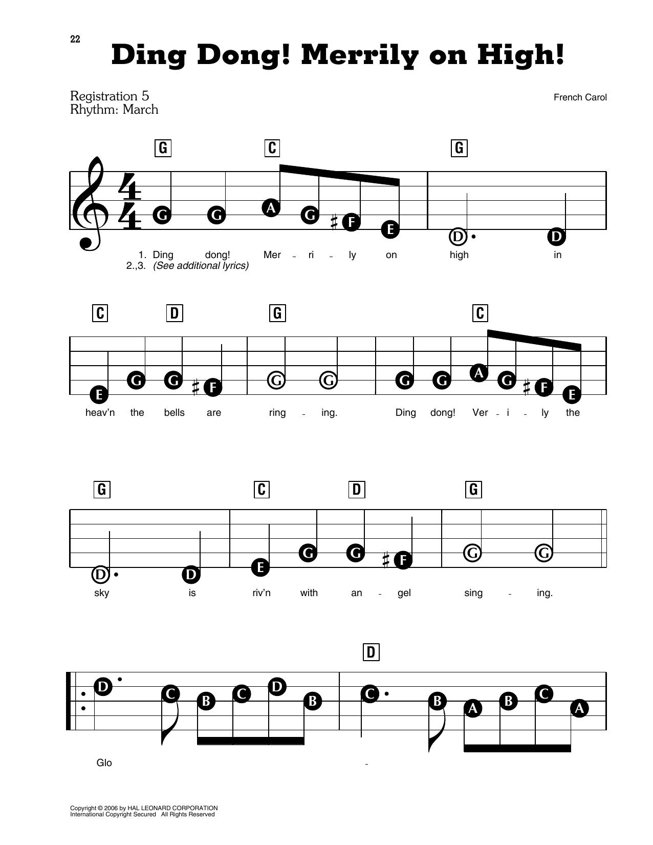 Christmas Carol Ding Dong Merrily On High Sheet Music Download Pdf Score 159857
